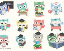 Primary School Owl Clipart.