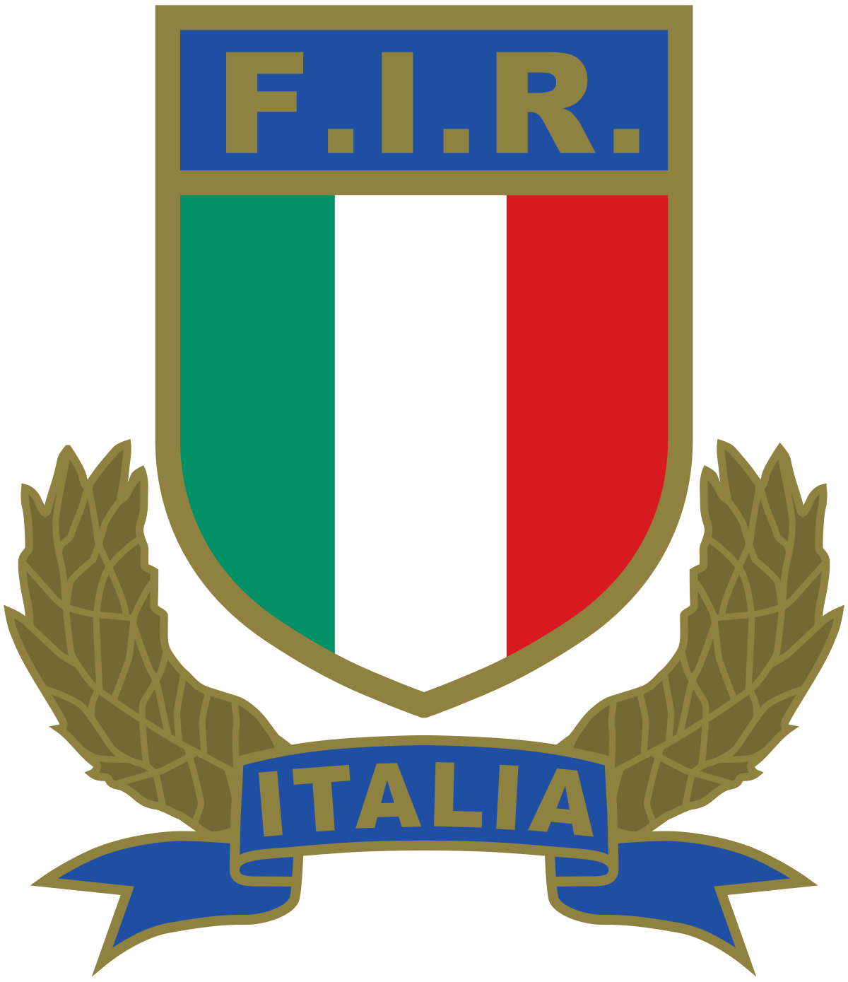 Rugby Federation Italy Logo transparent PNG.