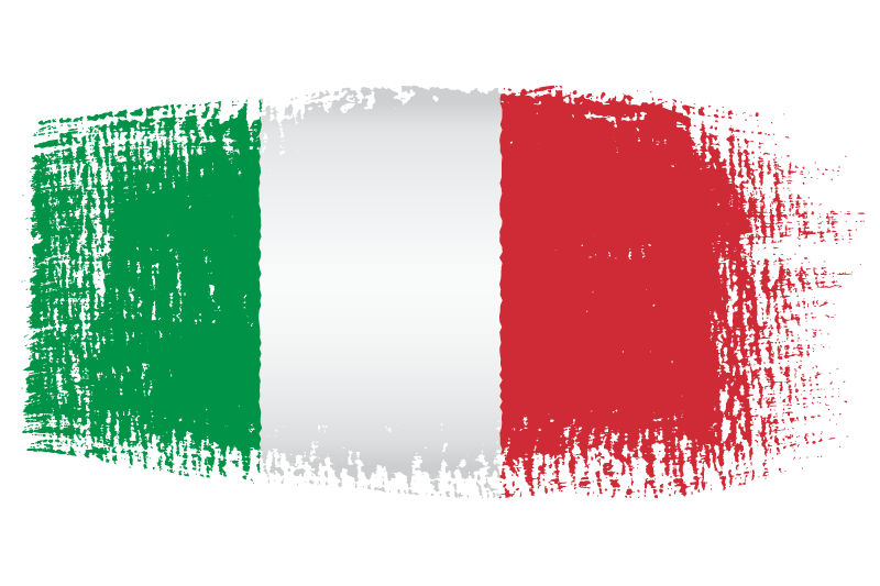 Italian Flag Brush Effect transparent PNG.