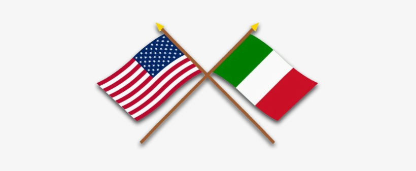 Italian And American Flag Clip Art.