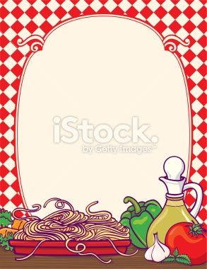Italian food border with lots of healthy vegetables.