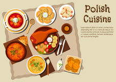 Polish Pierogi Italian Soup Stock Illustrations, Vectors.