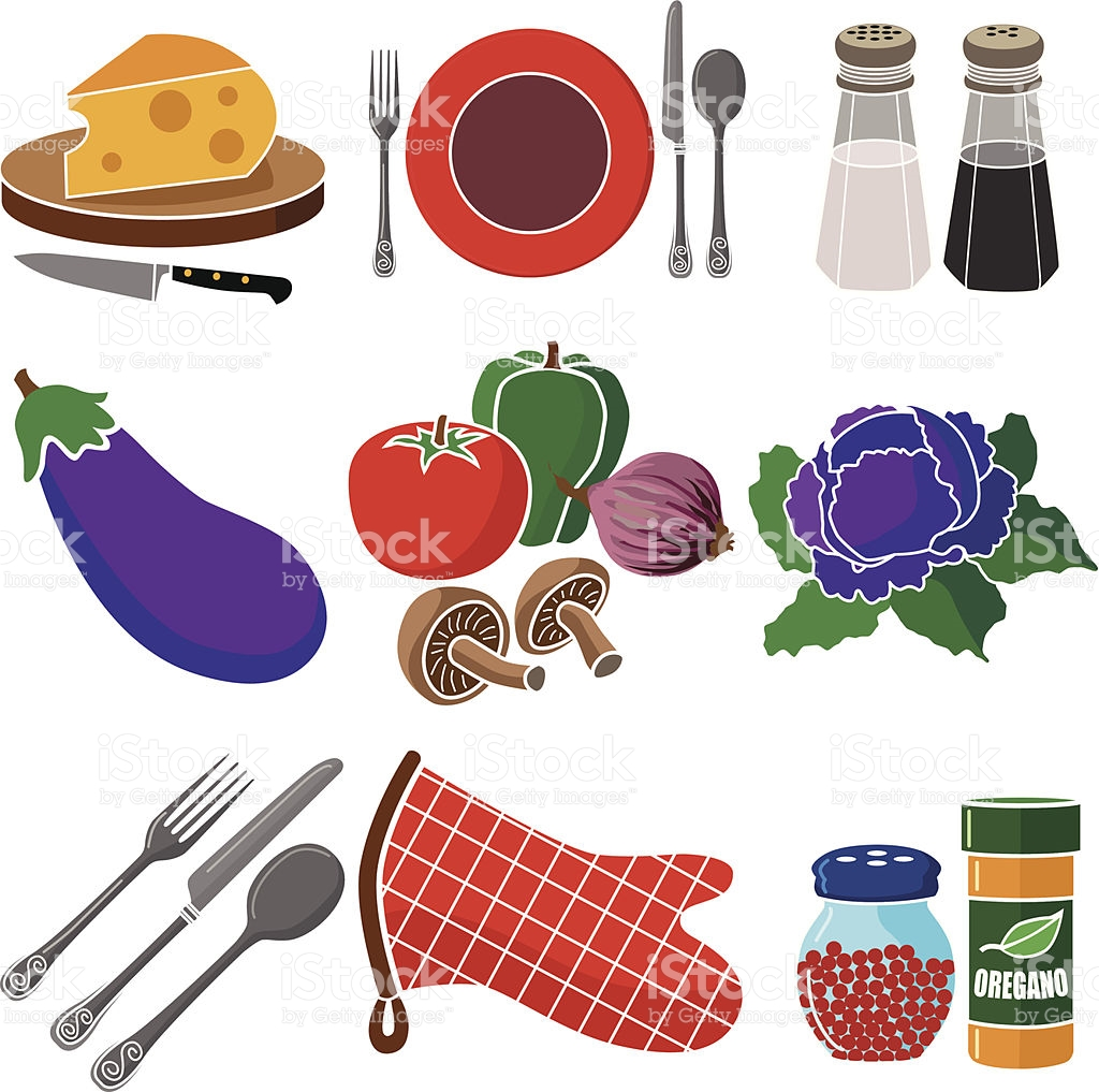 Italian Dinner Icon Set stock vector art 481105101.