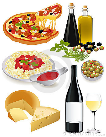 Italian Food Stock Photography.