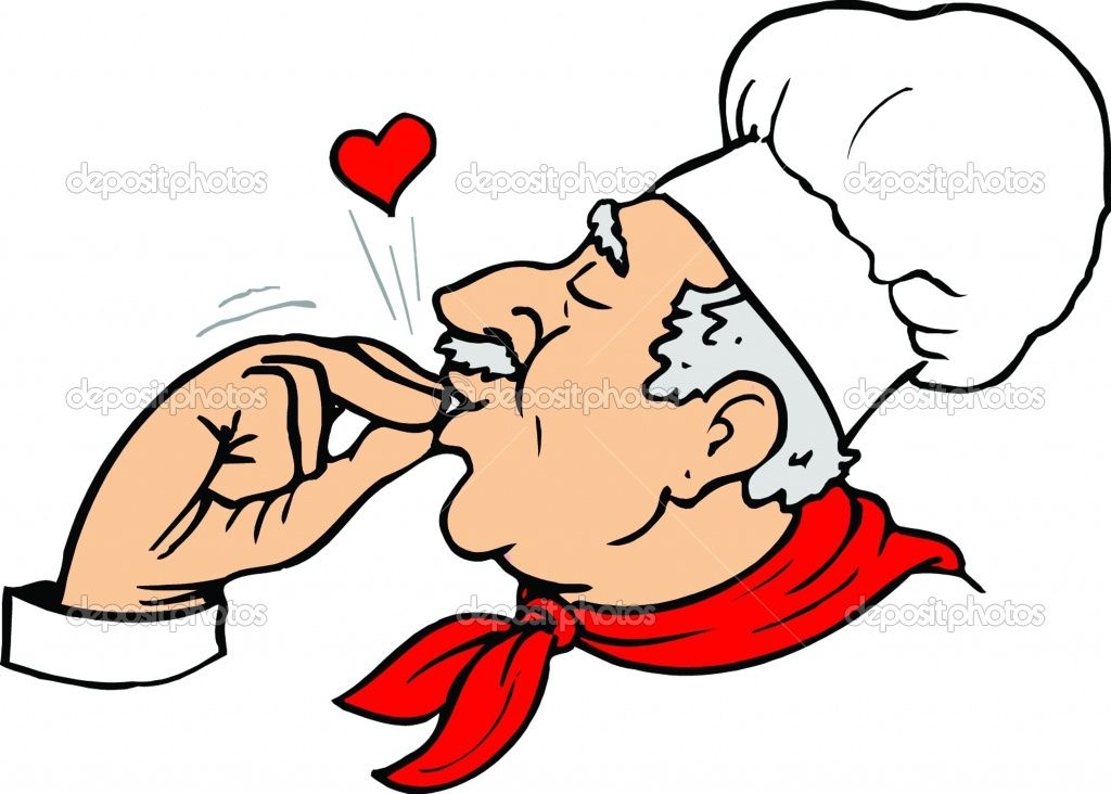 Finger Kiss: Chef's indication of perfection..