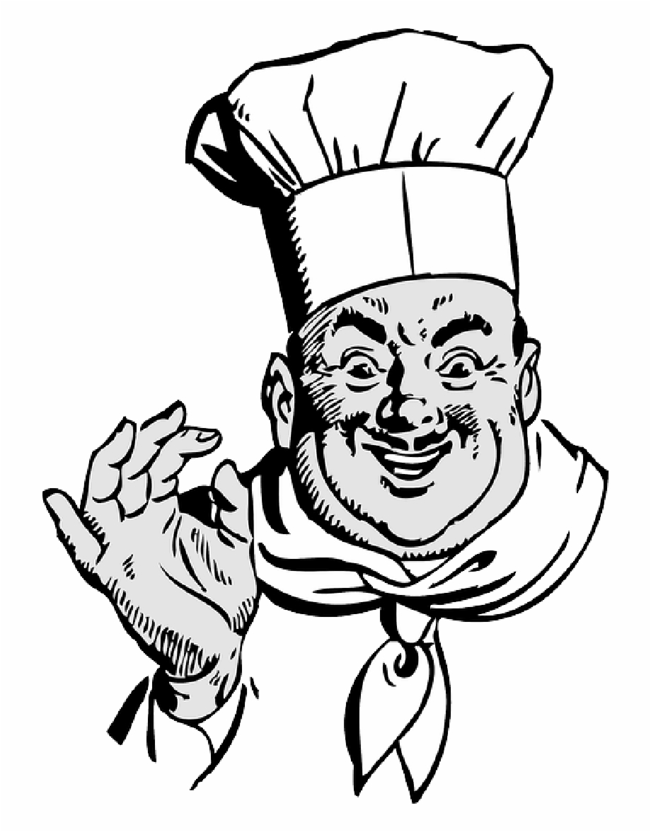 Chef Clipart Black And White.