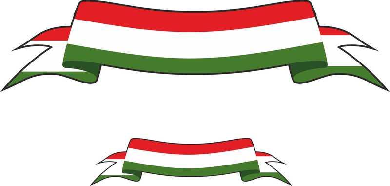 Italian Restaurant Logo With Flag: Italien Clipart
