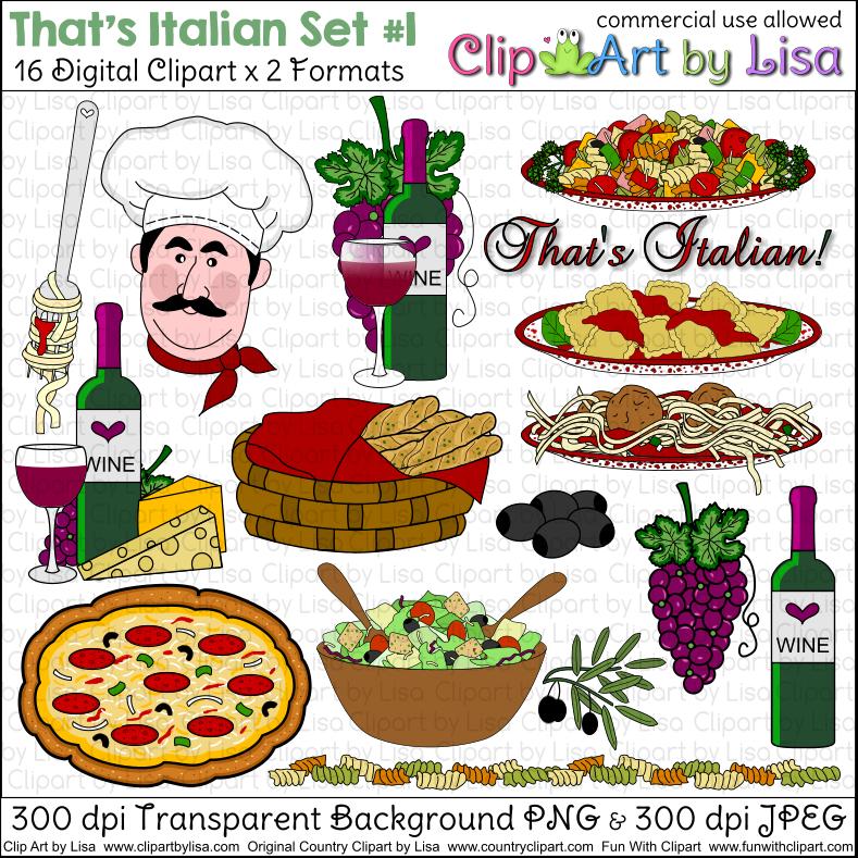 Italian Cooking Clip Art.