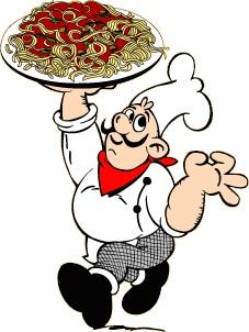 Italian Dinner Clipart.