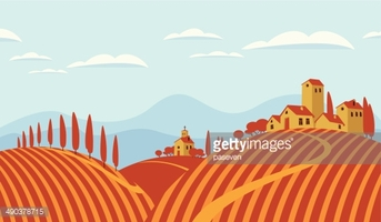 Italian Countryside stock vectors.