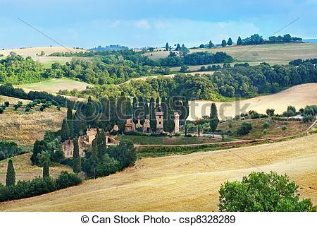Stock Photographs of Italian countryside in Tuscany.