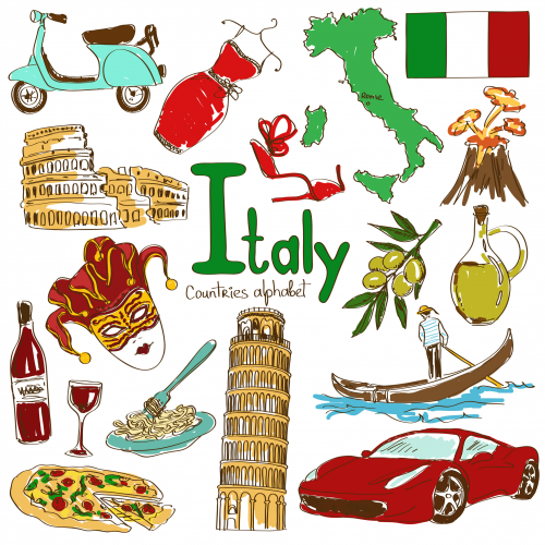 Italy Culture Clipart.