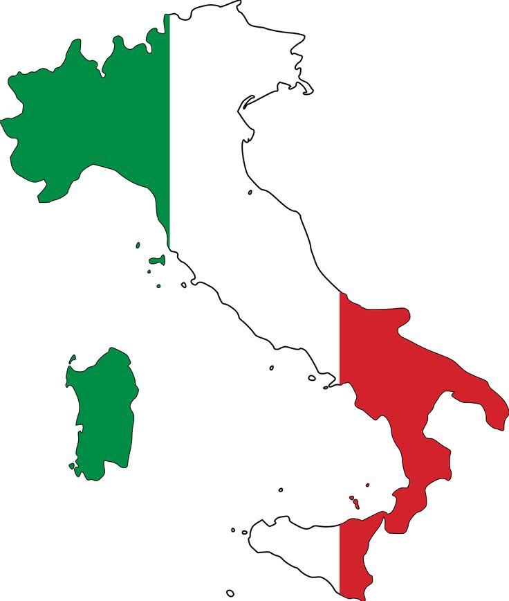 Italian Flag Clip Art.