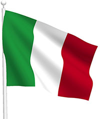 Free Animated Italy Flags.
