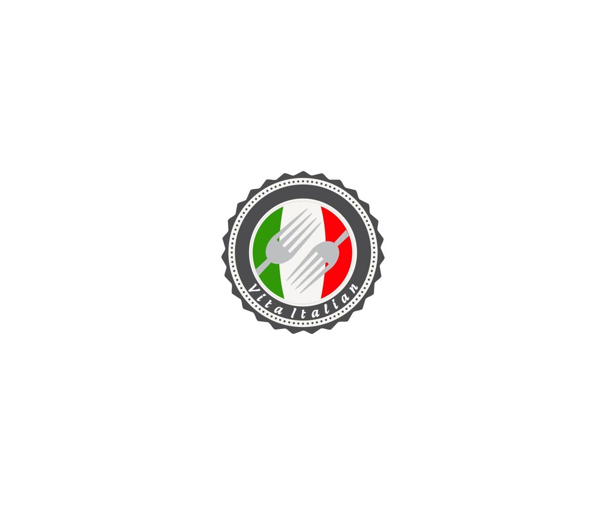 Elegant, Colorful, Restaurant Logo Design for Vita Italian.