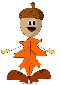 Addobbi autunno scuola Foglia.