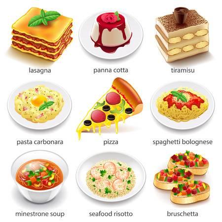 47,336 Italian Food Stock Vector Illustration And Royalty Free.