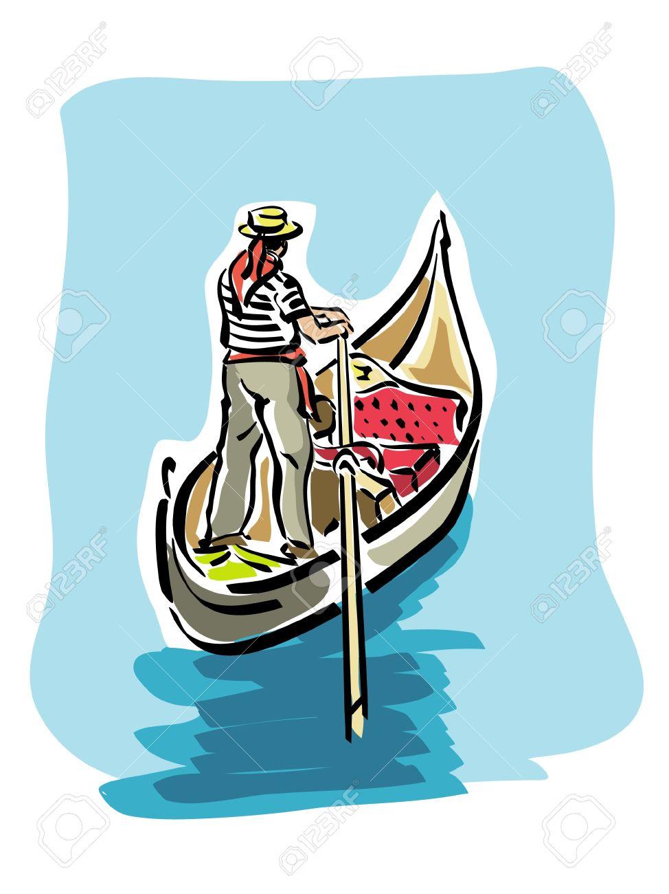 Venetian gondola.