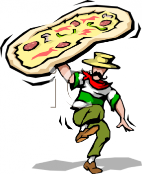 Royalty Free Clip Art Image: Pizza.