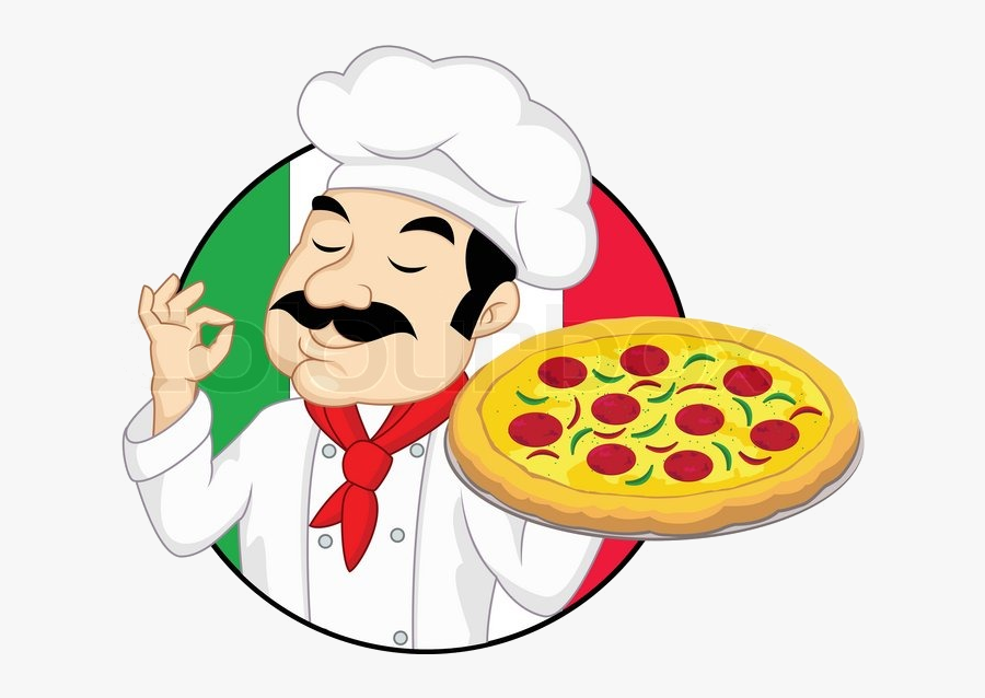 Pizza Italian Man Clipart Free Transparent Png.