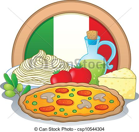 Italy Food Clipart.