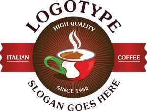 Italian Coffee Logo Vector (.AI) Free Download.