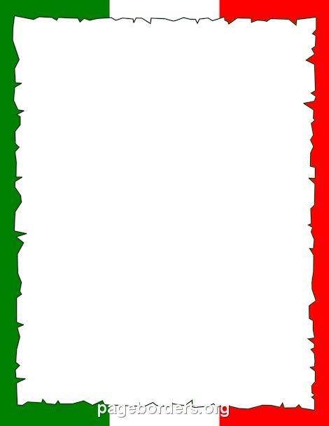 Italian Menu Border.