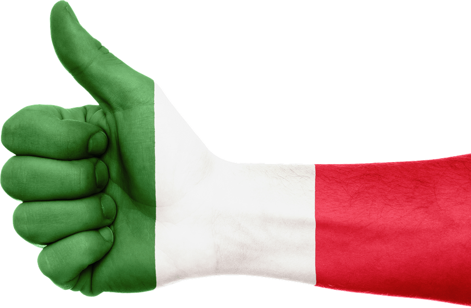 Italian Flag Arm transparent PNG.