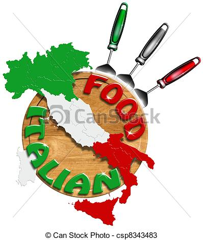 Italian food clipart.