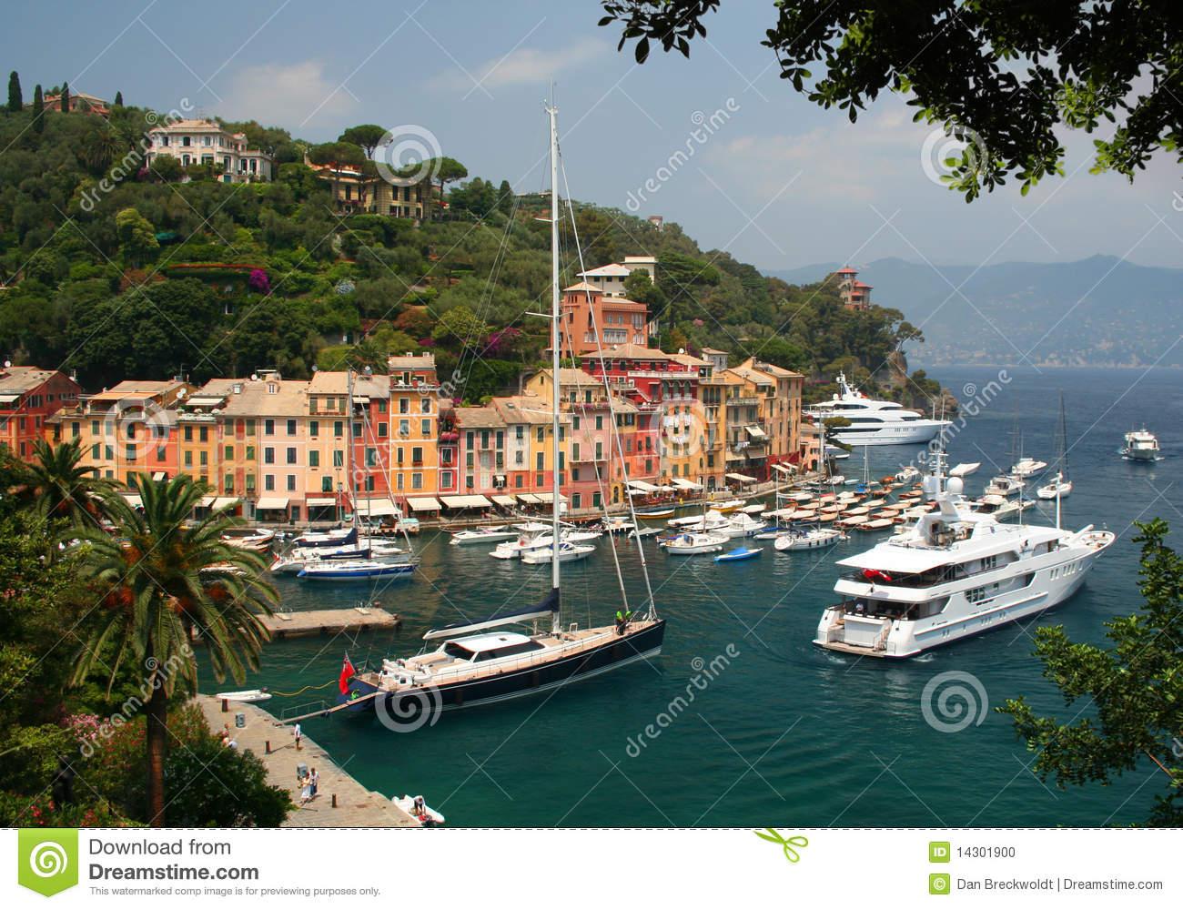Portofino On The Italian Riviera Stock Photo.