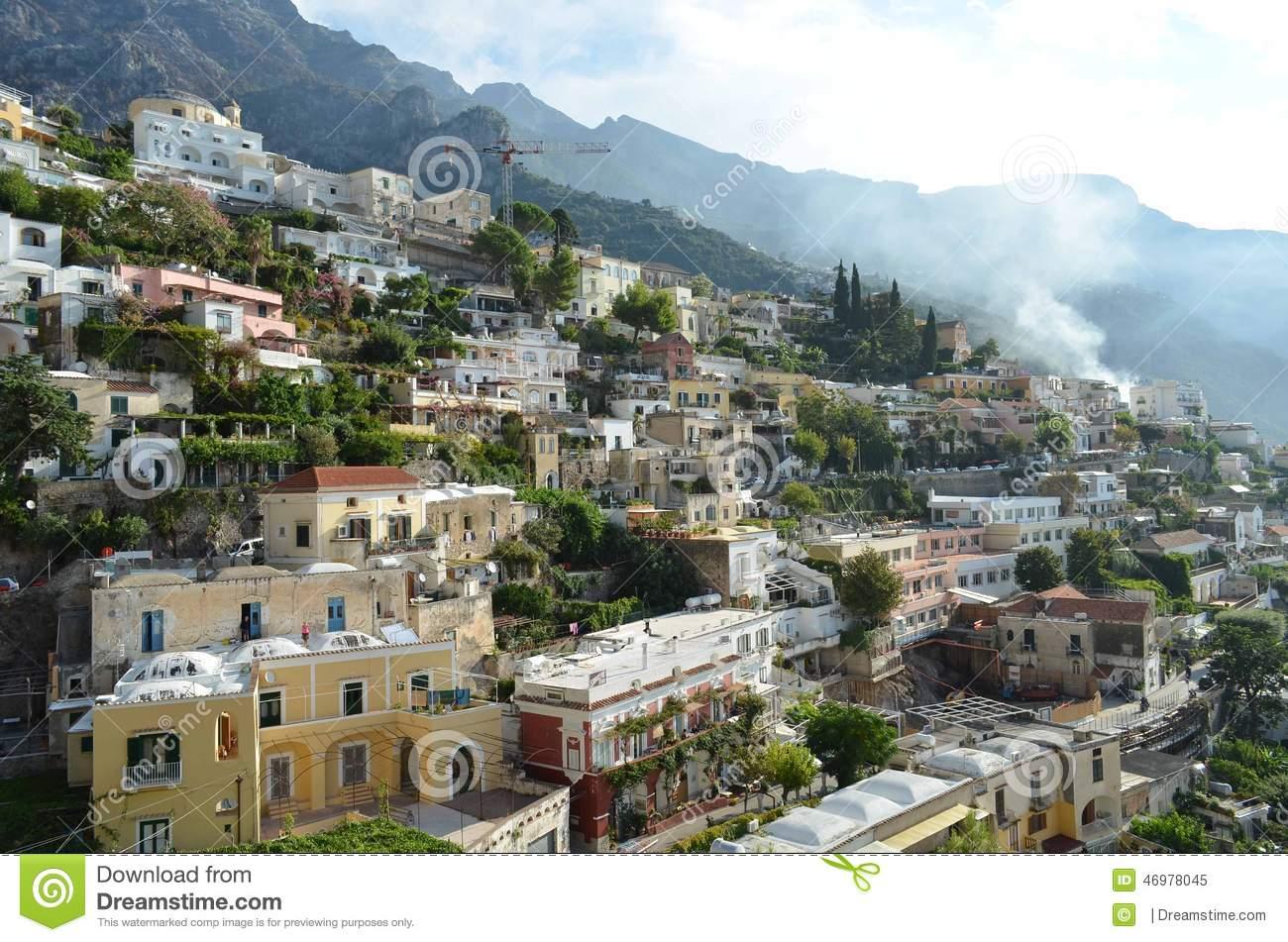 Positano Italian Riviera Stock Photo.