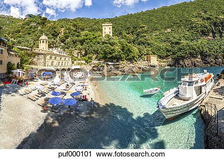 Stock Photography of Italy, Liguria, Riviera di Levante, Camogli.