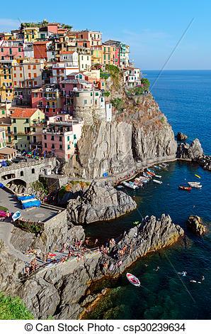 Stock Photos of Manarola, Cinque Terre (Italian Riviera, Liguria.