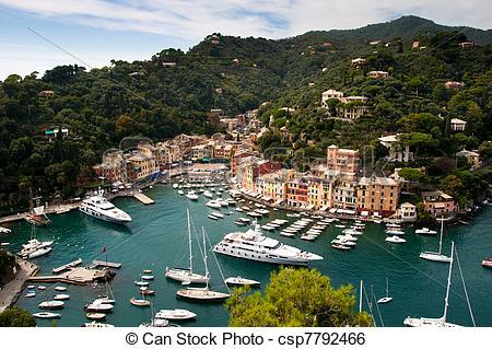 Stock Image of Portofino, Italian Riviera, Liguria, Italy.