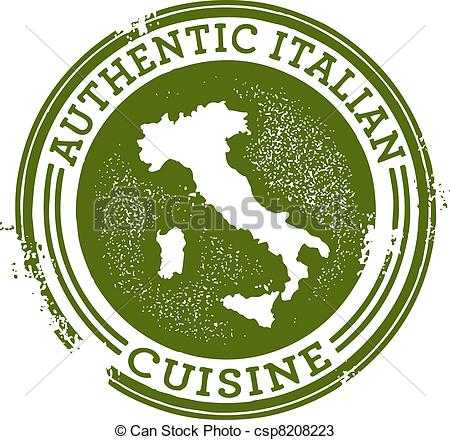 Vectors of Authentic Italian Food.