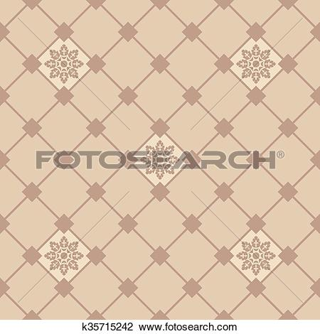 Clipart of Ornamental tile background in Italian style. Ceramic.
