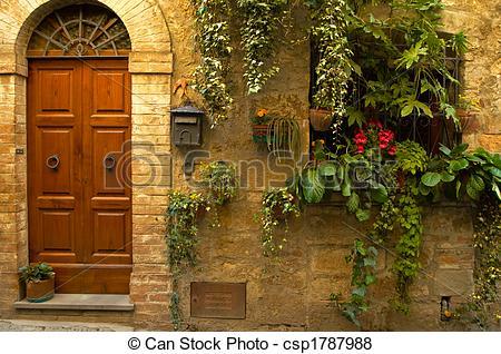 Pictures of Doorway garden, Italian village.