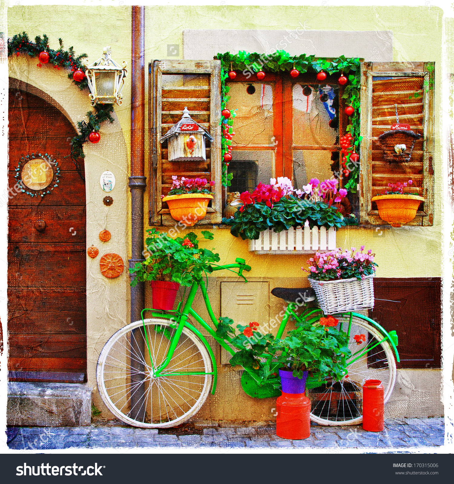 Pretty Streets Small Italian Villages Stock Photo 170315006.