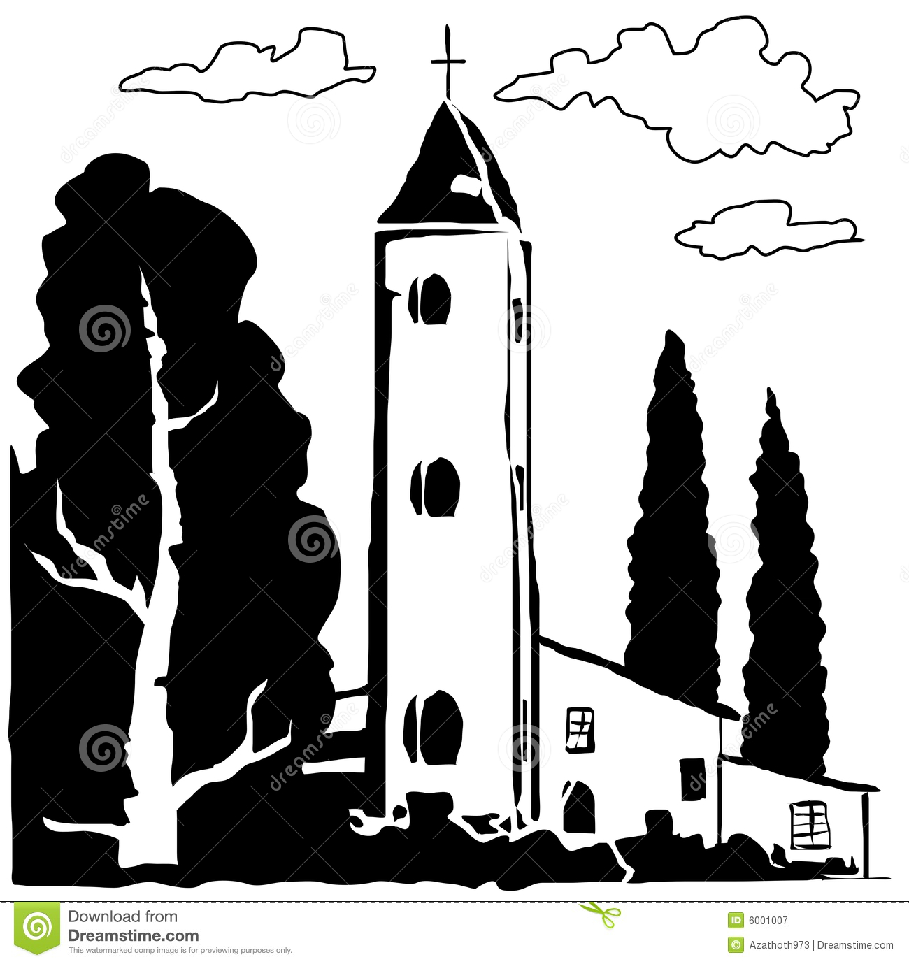 Old Italian Village Stock Illustrations.