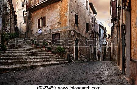 Stock Photograph of Old italian village k6327459.