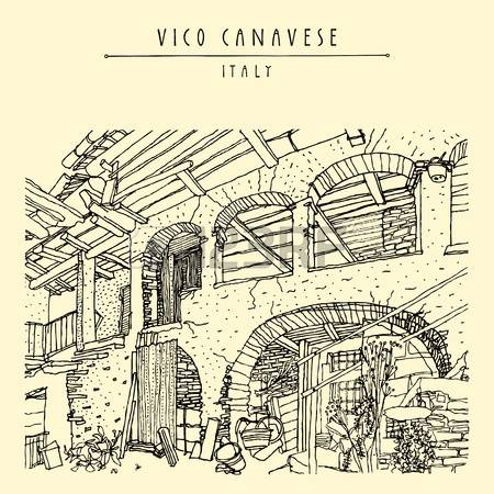 309 Italian Village Stock Vector Illustration And Royalty Free.