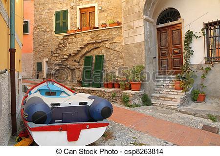 Stock Photo of italian village.