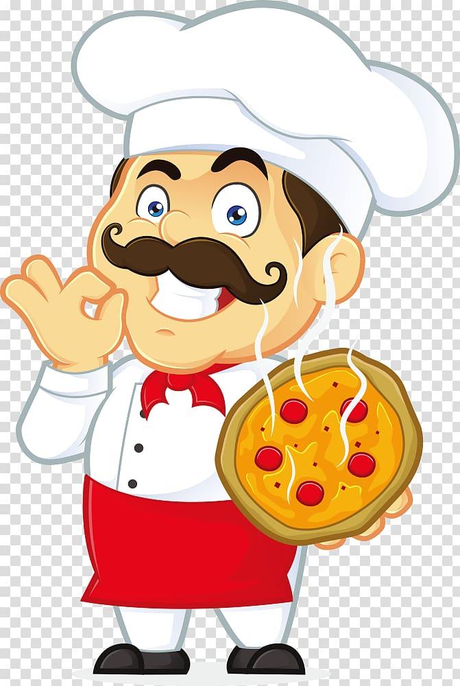 Pizza Italian cuisine Waiter Chef, pizza transparent.