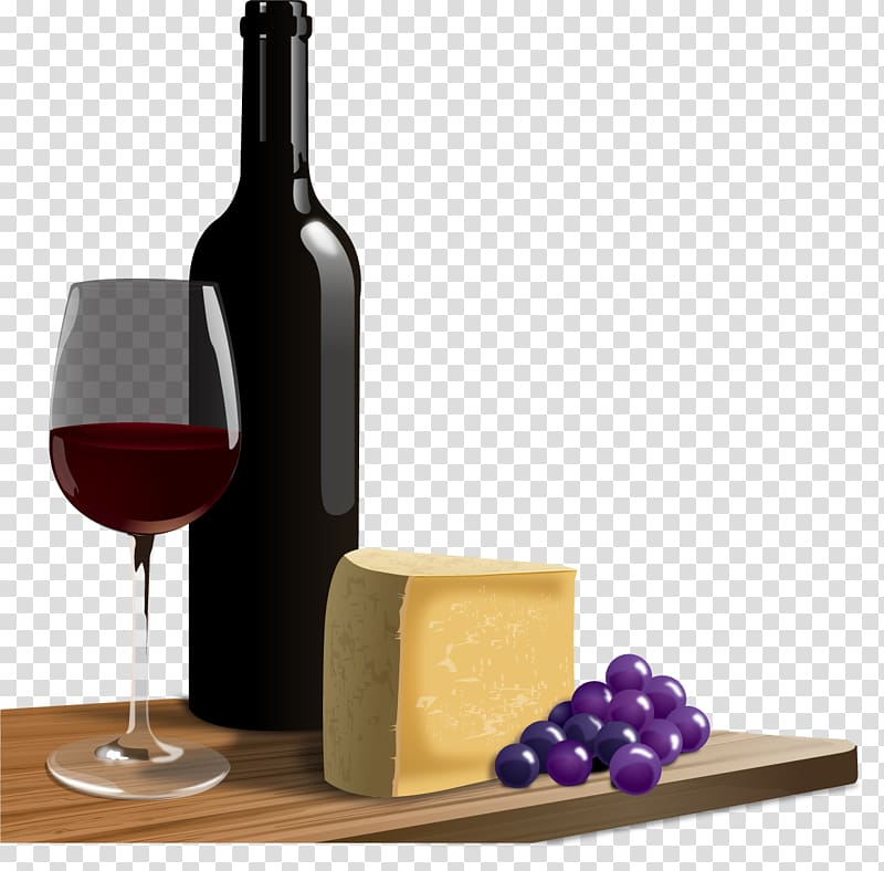 Red Wine Cheese Italian wine , Cheese wine transparent.