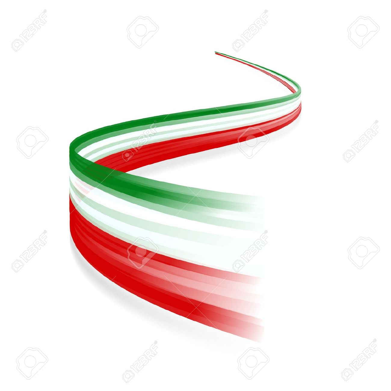 Abstract Italian Waving Flag Isolated On White Background Royalty.