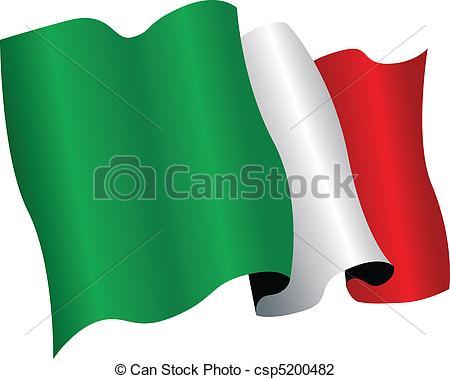 Bandiera italia clipart.