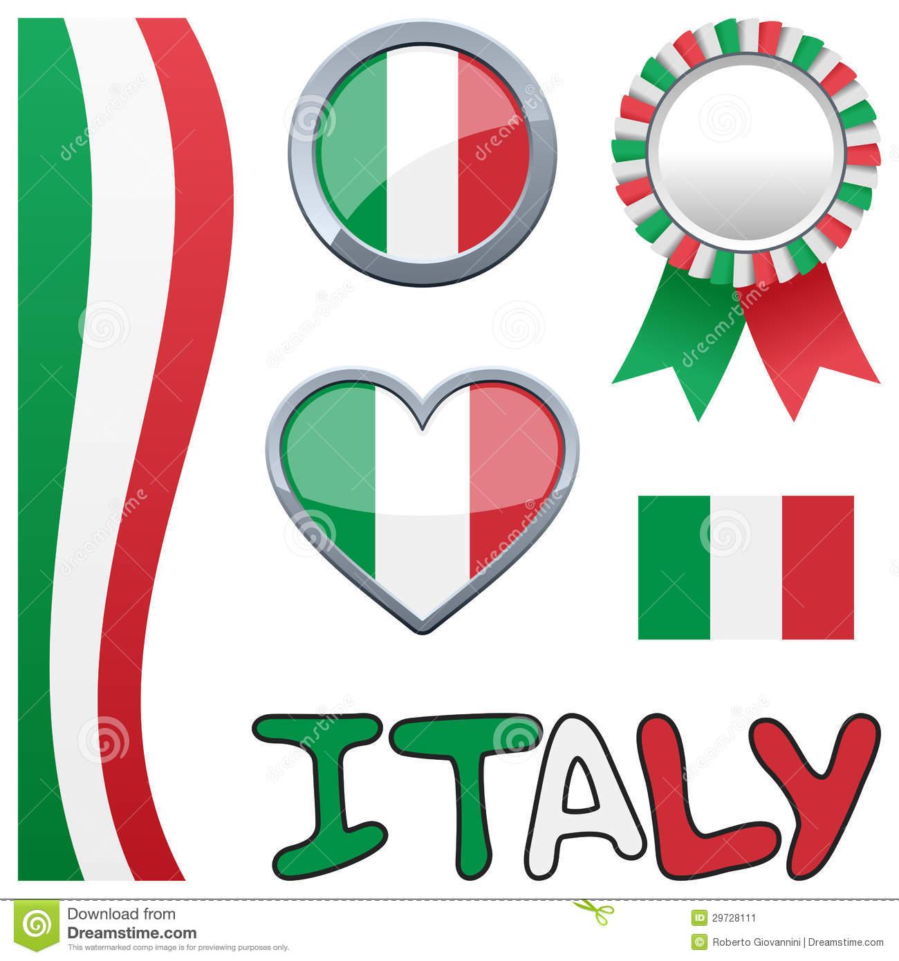 Insieme Patriottico Italiano Dell'Italia Immagine Stock.