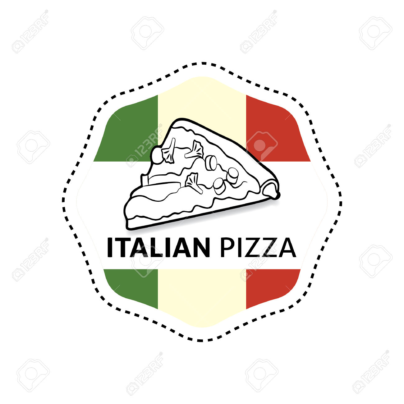 Label Pizze Italiane Clipart Royalty.