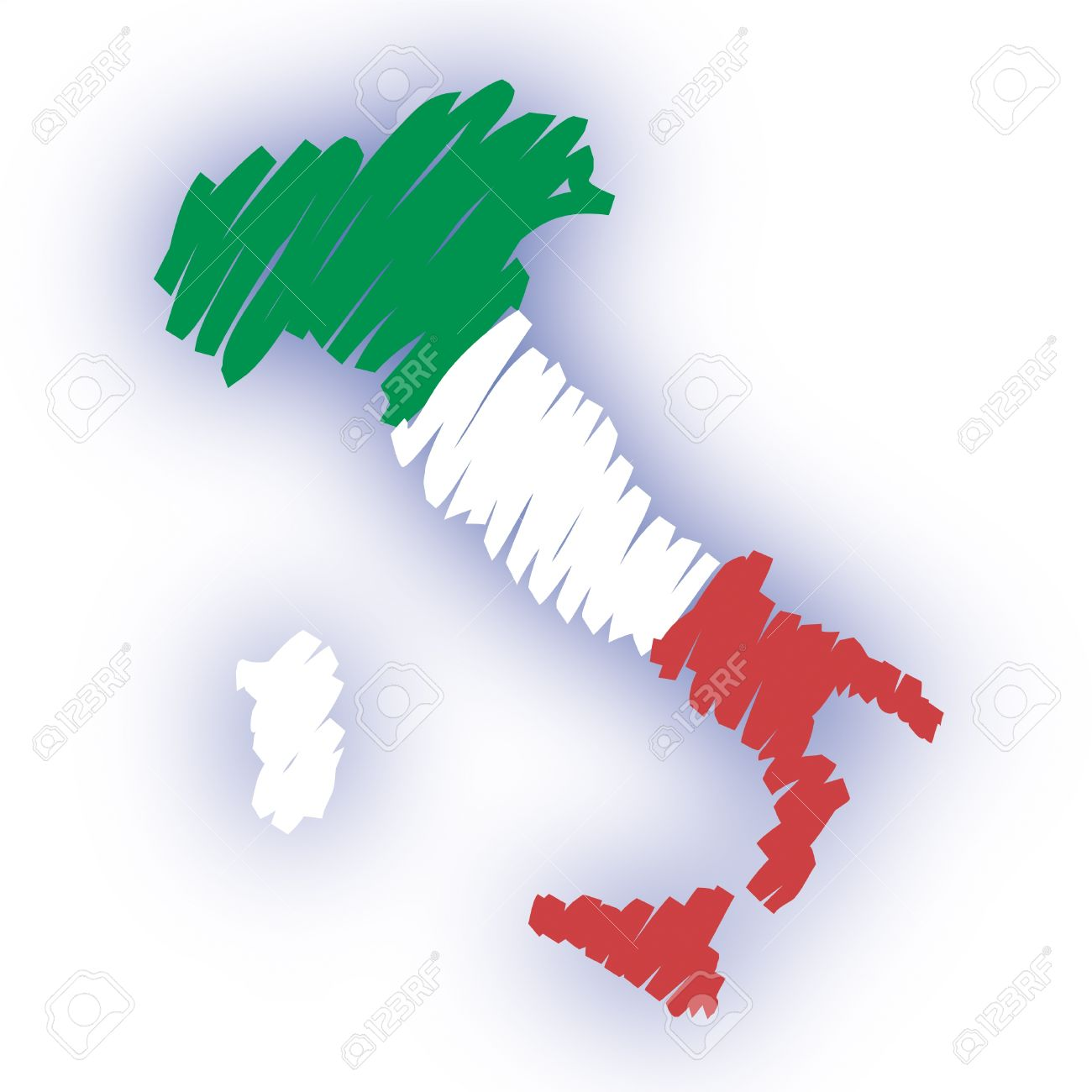 Cartina italia clipart.