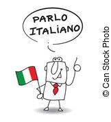 Speak italian Vector Clipart Royalty Free. 155 Speak italian clip.